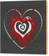 Hearts Graphic 1 Wood Print