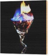 Hearts On Fire Wood Print