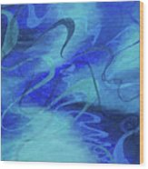 Heartsong Blue 1 Wood Print