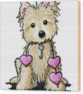 Heartstrings Cairn Terrier Wood Print