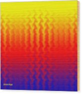 Heat Wave Abstract Design Wood Print