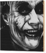 Heath Ledger Joker Wood Print