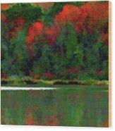 Heavy Tones Seasons Fall  Wood Print