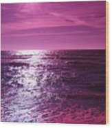 Heaven Shines Purple Wood Print