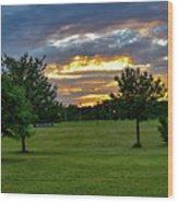 Heaven Sky Wood Print