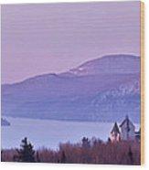Heavenly Alpenglow Wood Print