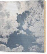 Heavenly Beam Wood Print