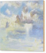 Heavenly Clouded Beautiful Sky Wood Print