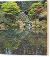 Heavenly Falls And The Swirly Lower Pond Wood Print