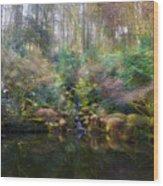 Heavenly Falls Wood Print