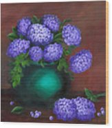 Heavenly Hydrangeas Wood Print