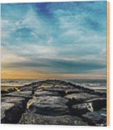 Heavenly Jetty Wood Print