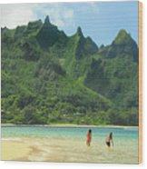 Heavenly Kauai Lagoon Wood Print