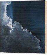 Heavenly Light Wood Print