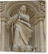 Heavenly Statue Wood Print