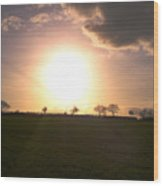 Heavenly Sunset Over Suffolk Wood Print