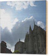 Heavens Above Mont St. Michel Abbey Wood Print