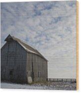 Heavens Barn Dusting Wood Print