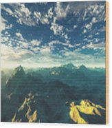 Heavens Breath 16 Wood Print