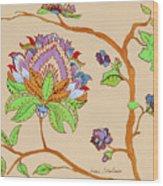 Heavens Flower Wood Print
