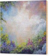 Heaven's Garden Wood Print
