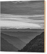 Heaven's Gate - West Virginia Bw Wood Print