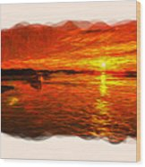 Heavens Of Fire 2 Wood Print