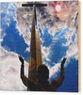 Heavens Prayers Wood Print