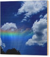 Heavens Rainbow Wood Print