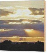 Heaven's Rays Wood Print