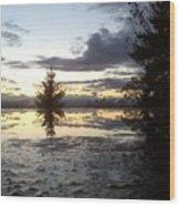 Heavens Reflection Wood Print