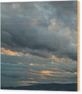 Heavy Clouds Over Mountains Wood Print