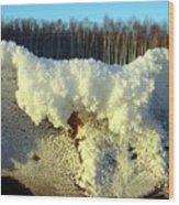 Heavy Frost Wood Print