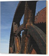 Heavy Machinery Wood Print