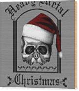 Heavy Metal Christmas Wood Print