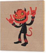 Heavy Metal Devil Wood Print by John Schwegel