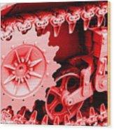 Heavy Metal In Red Wood Print