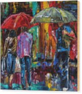 Heavy Rain Wood Print