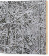 Heavy Snow Wood Print