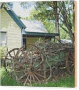 Heavy Wagon Load Wood Print