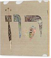 Hebrew Calligraphy- Yaron Wood Print