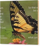 Hebrews Scripture Butterfly Wood Print