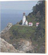 Heceta Head Lighthouse Li 9000 Wood Print