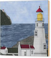 Heceta Head Oregon Wood Print