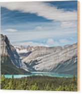 Hector Lake, Canadian Rockies Wood Print