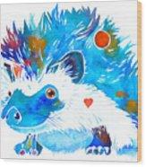 Hedgehog With Heart Wood Print