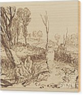 Hedging And Ditching Wood Print