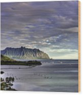 He'eia And Kualoa 2nd Crop Wood Print