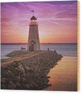 Hefner Lighthouse Wood Print