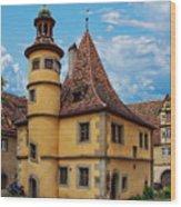 Hegereiterhaus Rothenburg Ob Der Tauber Wood Print